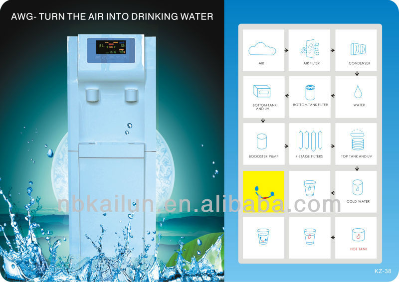 2 in 1 Water dispenser Drinking water from air water generator