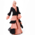 matching color muslim robe long sleeve moroccan kimono abaya fashion dress