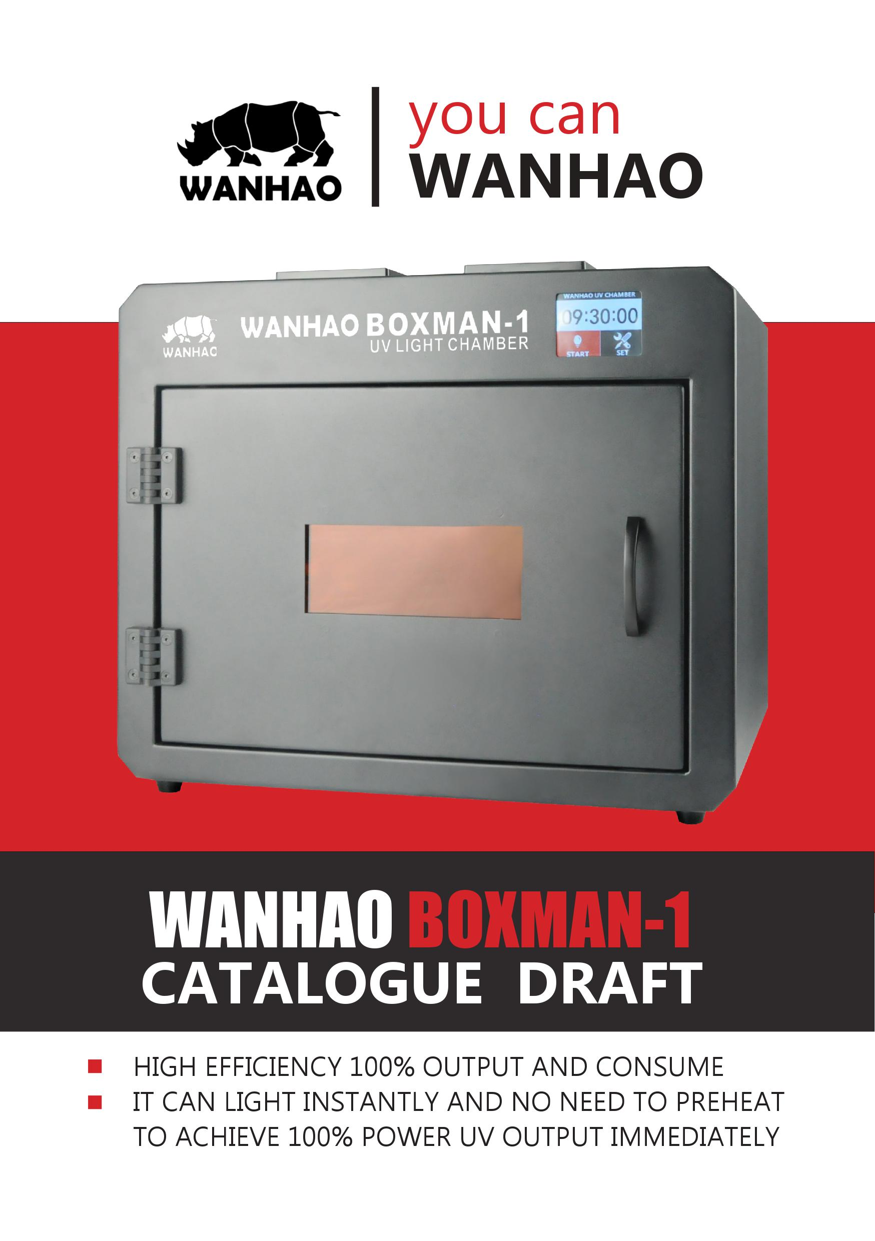 2018 WANHAO Curing Boxman - 1 3D printer pre-sale for curing resin model,  View wanhao, WANHAO Product Details from Jinhua Wanhao Spare Parts Co ,  Ltd