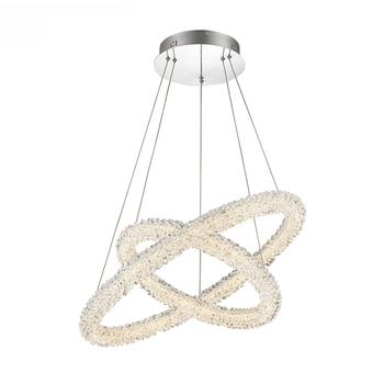 Indoor Fashion Design Hanging Bright Light K9 Crystal Lighting Led Chandelier For Dining Room