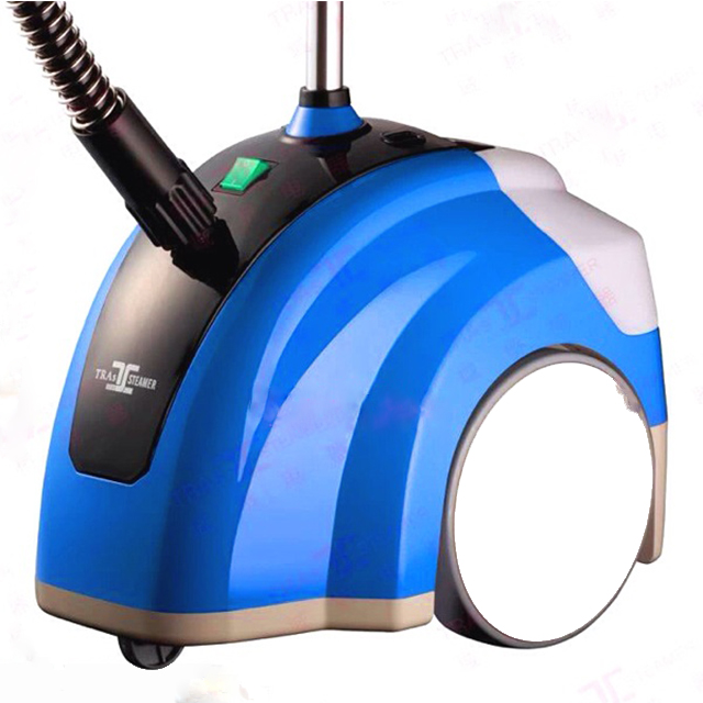 Standing clothes steam iron garment steamer with fabric brush/ fabric garment steamer for home & industrial