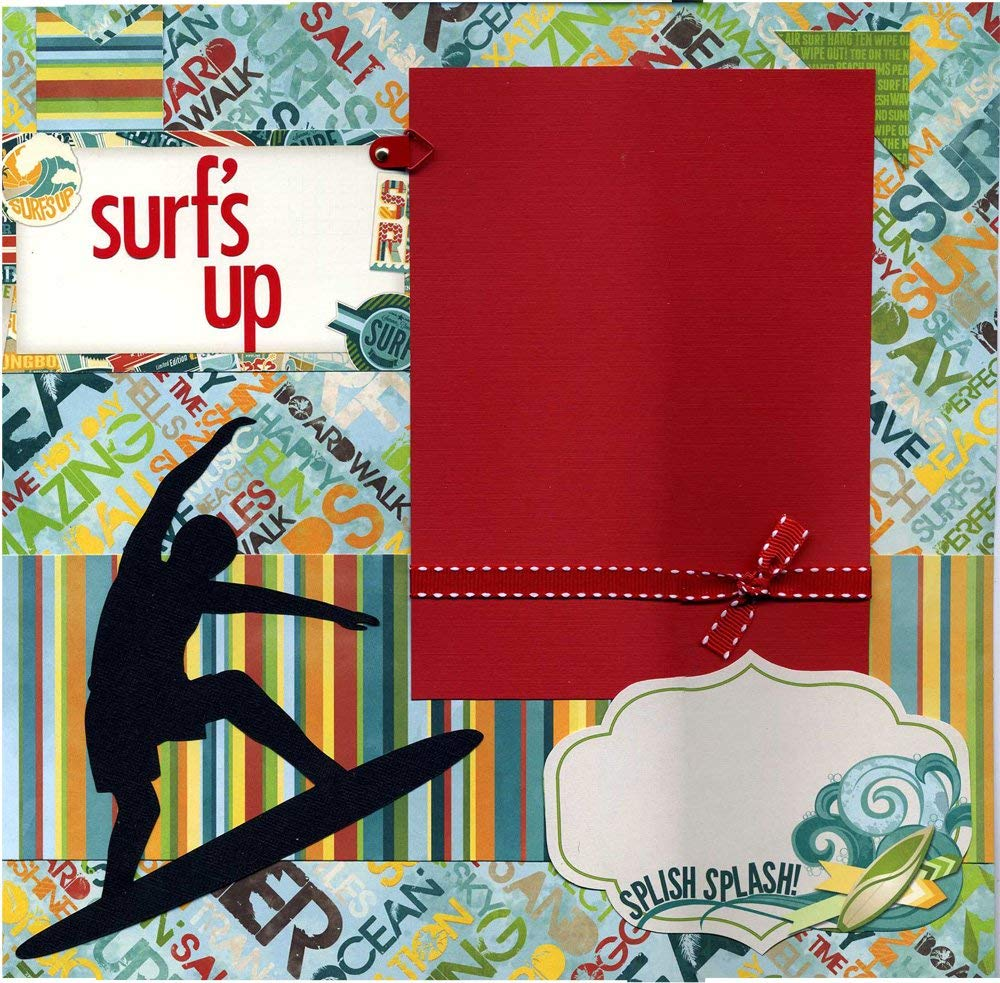 Surf's Up - Premade Scrapbook Page