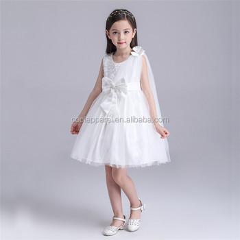 High End Baby Girl Baptism Dress Princess Kids Flower Girl Tulle