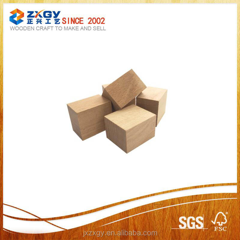 hot sale natural wooden square blocks beech wood square blocks