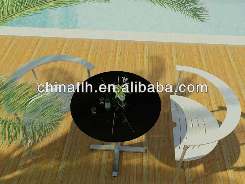 Leisure Round Compact Laminate Outdoor Garden Classics Patio Furniture