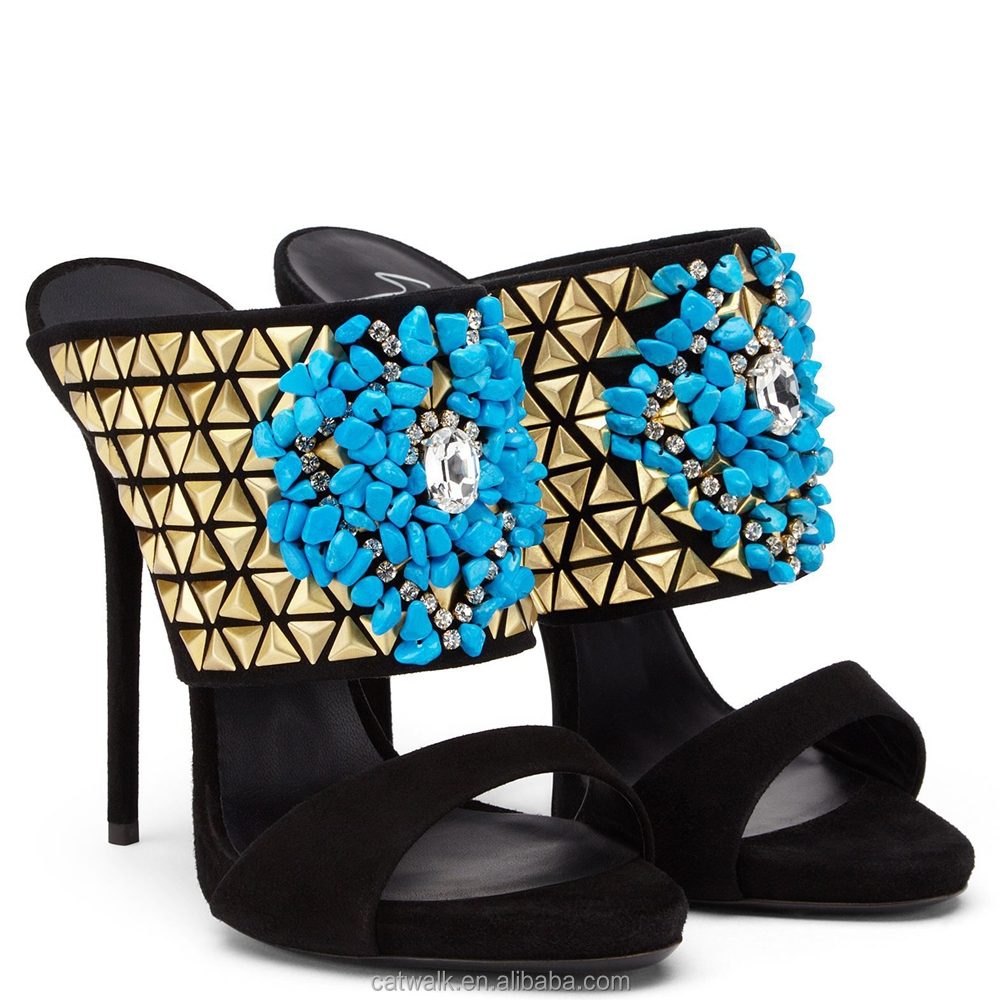 European sandals shoes - Sandals European Style Women Party Wear Shoes Evening Diamond Shoes Sexy Slingback Sandals