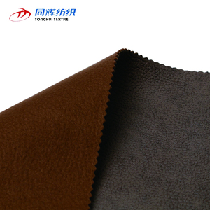 Cheap Hot Sales 100% Polyester Bronzed Faux Leather Fabric