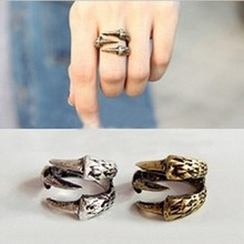 LZ R50 R51 The 2016 New Fashion Punk Plated Gold Eagle Claw Texture Zinc Alloy Rings