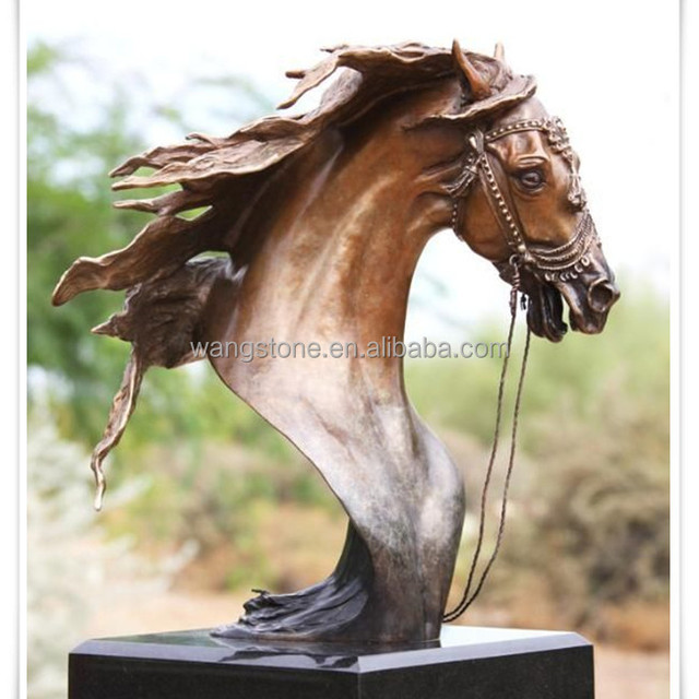 Abstract Art Statue Horse Head Copper Sculpture
