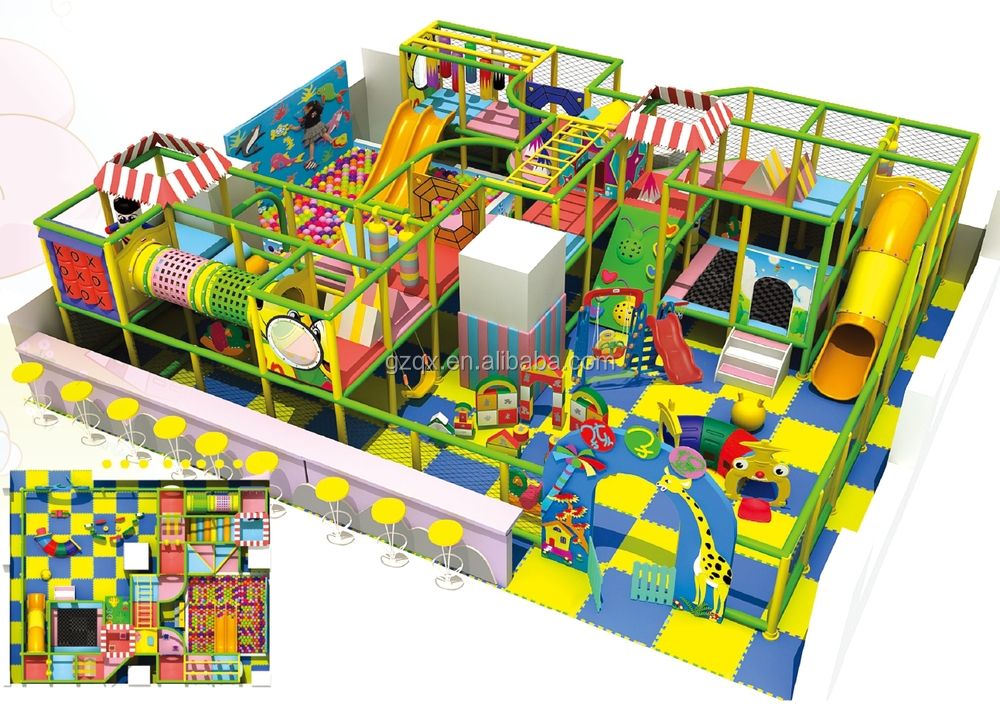 Big size play area equipment indoor party indoor play for Inside play areas