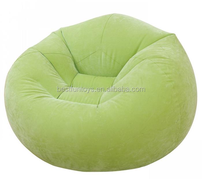 Flocking Inflatable Bean Bag Chair Plastic Custom Made Garden ...