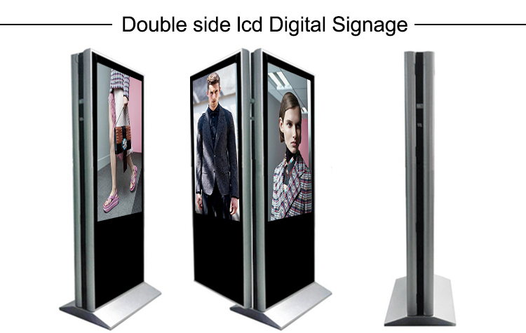 double side lcd digital signage kiosks advertising display1.jpg