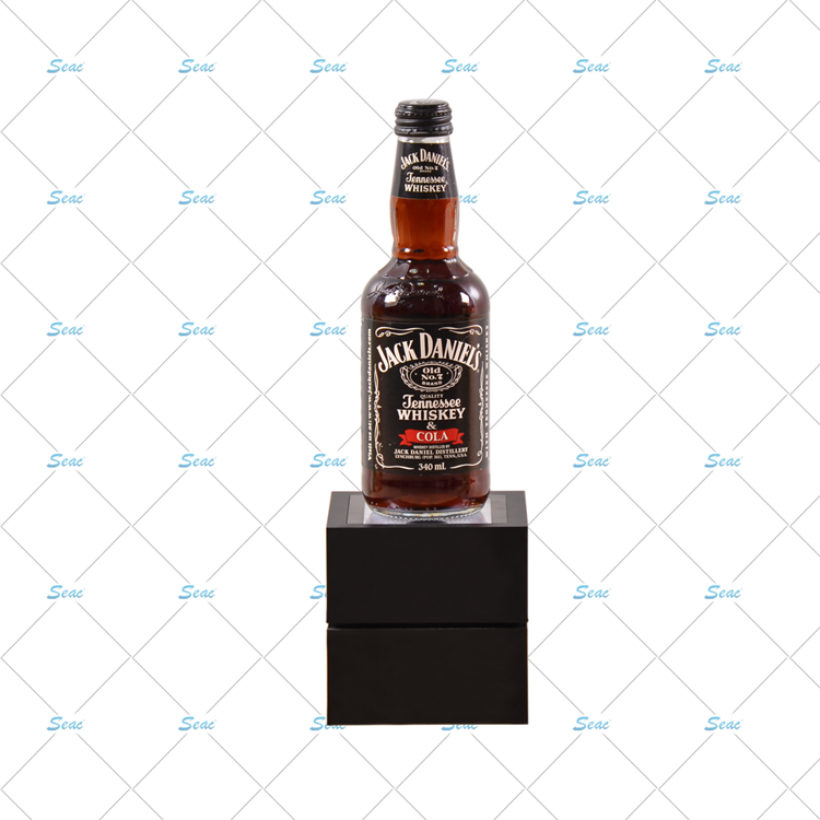 Bar small LED pos beer bottle square display plinth glorifier for display