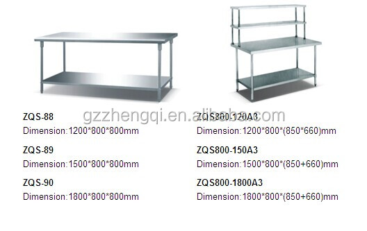 hot sale kitchen working table kitchen equipment buy