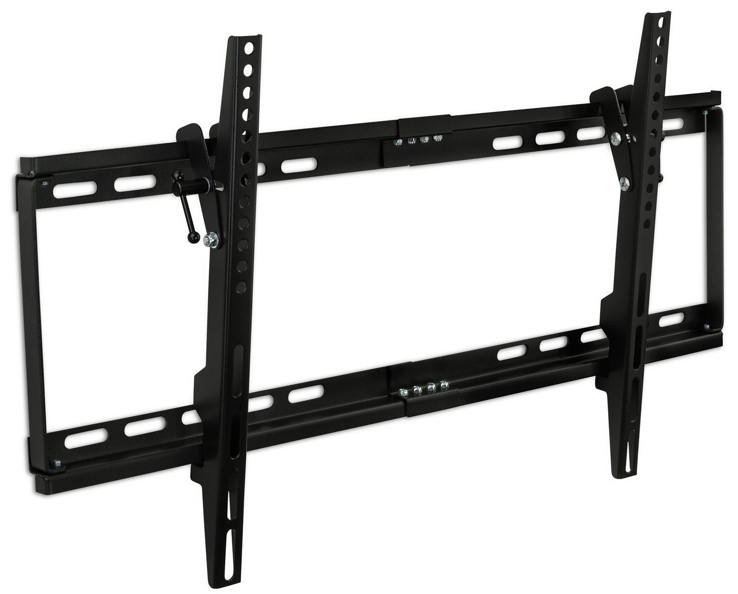 "Mount-It! MI-1121M Slim Tilt TV Wall Mount Bracket for LED LCD Plasma Flat Screen Panels for 32"" to 65"" (Many from 20-75"") up to VESA 600 x 400 and 130 lbs Low Profile. 0-15 Degree Forward Adjustable Tilting Including 6 ft HDMI Cable and Leveling Bubble Fits Samsung, Sony, LG Sharp, Insignia,"