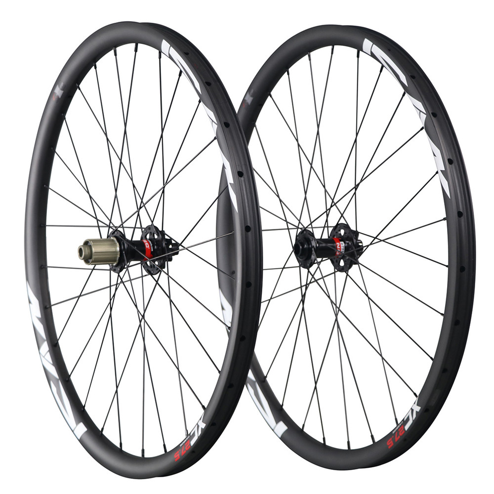 Mountain bike wheels 27.5 30mm clincher tubeless carbon mtb wheels for cross country