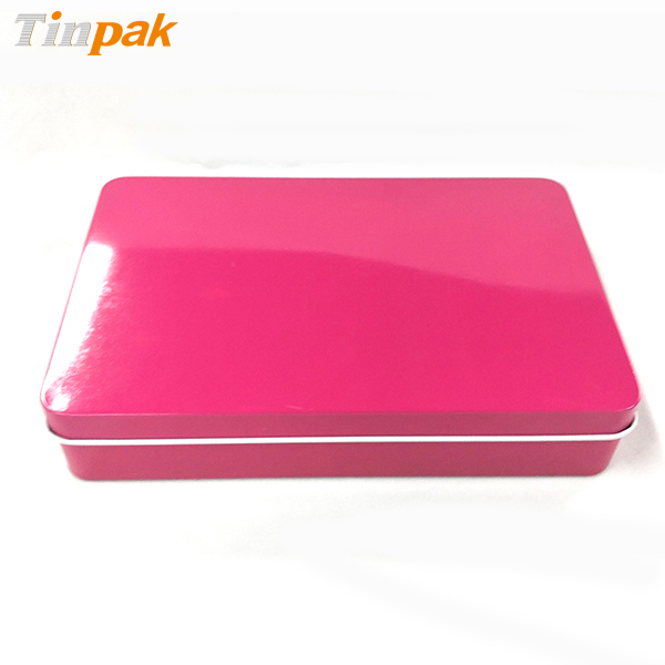 Customized beautiful printing rectangle tin box for promotion
