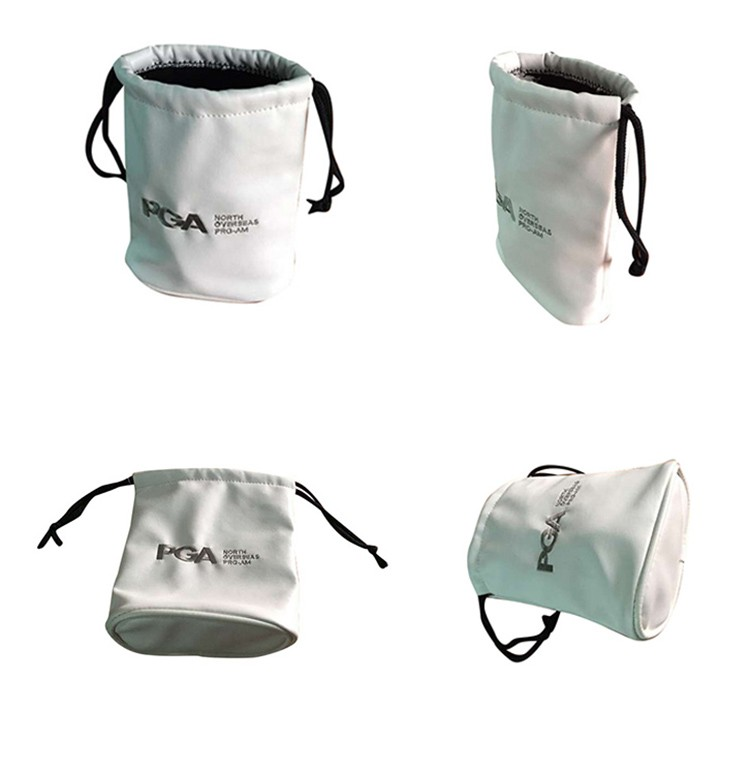 New Pouch Canvas Golf Ball Bag, Golf Ball Drawstring Bag