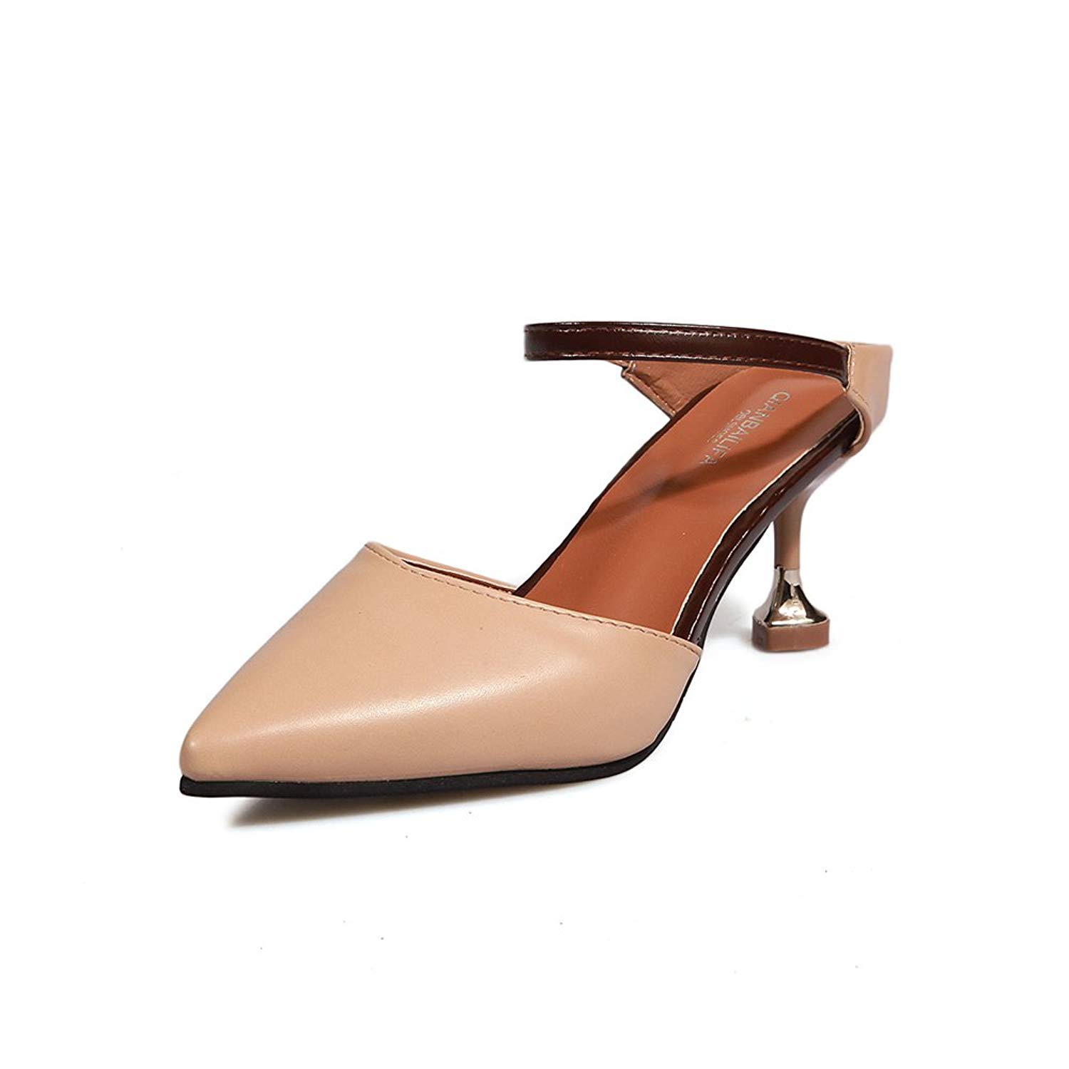 637c3c792c5 Get Quotations · Women Sexy High Heel Mules Clogs Pointed Toe Platform Mules  Ladies Leather Sole Slippers