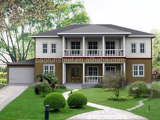 China Qingdao Baorun German steel prefabricated living house Pacific coastal style