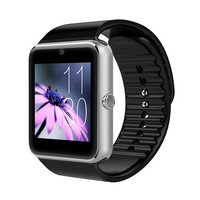 Factory cheap android smart watch Hot Selling GT08 smart watch for smart phone with camera