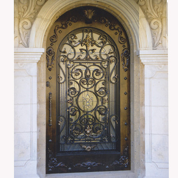 Arched Wrought Iron Security Screen Doors