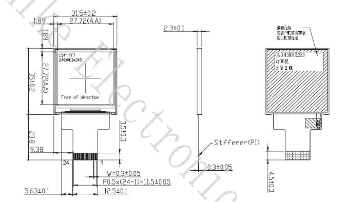 SPI 240x240 pantalla tft pantalla lcd de 1,5 pulgadas