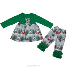 China Suppliers Christmas Baby Boutique Outfits Kids Clothing Wholesale For Girls