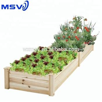 2ft X 8ft Raised Planter Kit Wood Planter Box Buy 2ft X 8ft