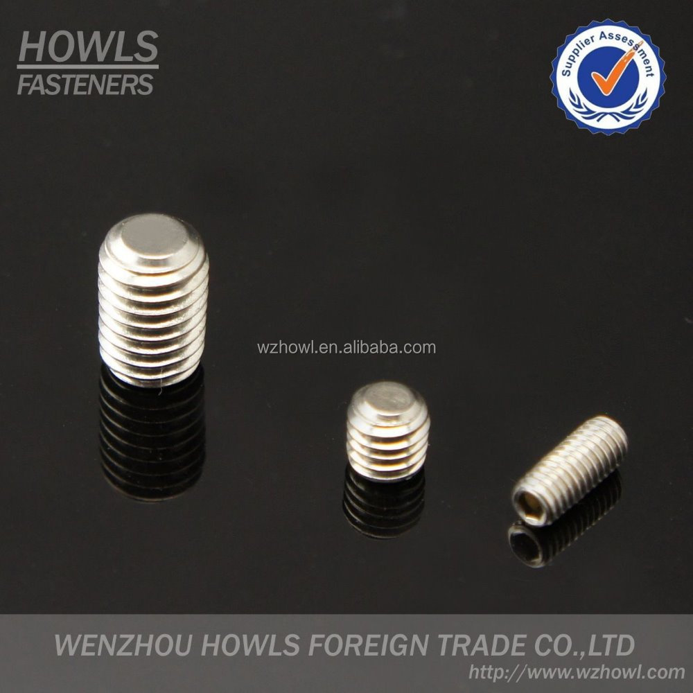 DIN 913 set screw with flat point DIN 914 set screw with cone point DIN 916 set screw with cup point