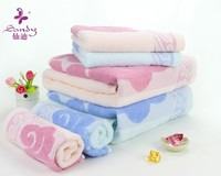 In Stock Pure 100 Cotton Jacquard Flower Dobby Face Towels Stores Hot Sale high end 100% cotton custom logo bath towels