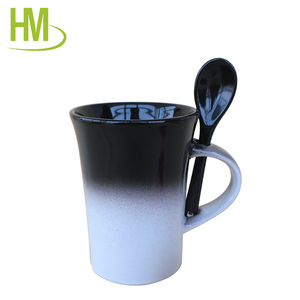 colorful changing porcelain mug white