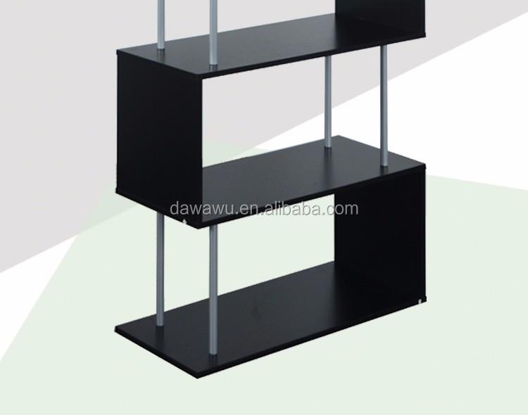 Woonkamer Zwart Bruin : Zwart bruin moderne boekenkast boekenplank voor woonkamer kantoor