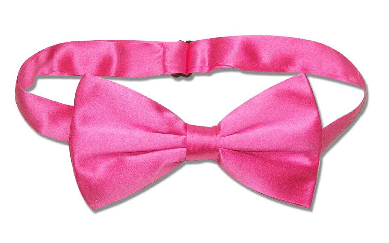 abcb0b53da87 100% SILK BOWTIE Solid HOT PINK FUCHSIA Color Men's Bow Tie for Tuxedo or  Suit