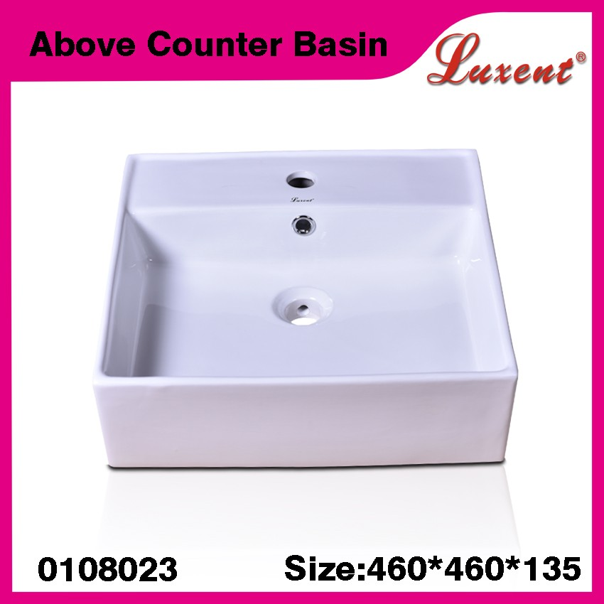 """Wholesale Blanco Porcelain Hotel Outdoor 18"""" Above Counter Basin ..."""