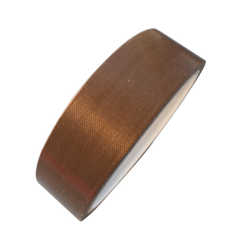 """1"""" x 11yds PTFE Adhesive Tape PTFE Coated Fabric Teflon Tape Adhesive Tape High Temperature Teflon Tape for Vacuum, Hand and Impulse Sealers FoodSaver, Seal A Meal, Weston, Cabella's and Many More"""