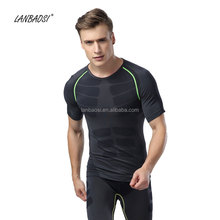New Fitness Men's Compression Shirt Bodybuilding Short Sleeve T-Shirt Crossfit Tops Shirts