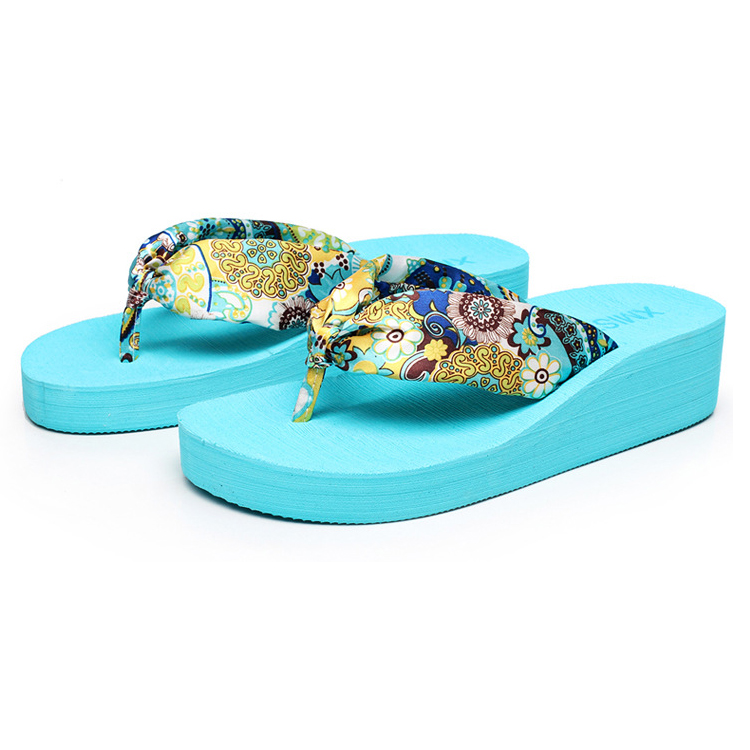 china manufacturing cheap wholesale high quality women beach wedge slide slipper flip flop