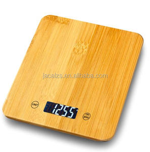 15kg/1g Promotion bamboo Digital Scale Food Electronic scale with backlight/clock/count down weighing scale kitchen appliances