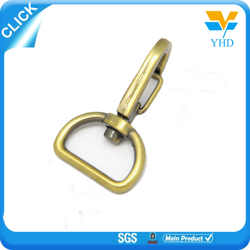 design min bag part metal d ring snap hook
