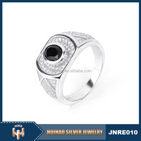 the Middle East fashion wholesale handcrafted 925 sterling silver ring for men party occasion