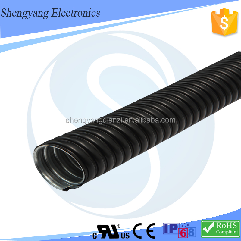 Factory Outlet Price GI Cable Protective Hose Surface Corrugated PVC Coated Metal Hose