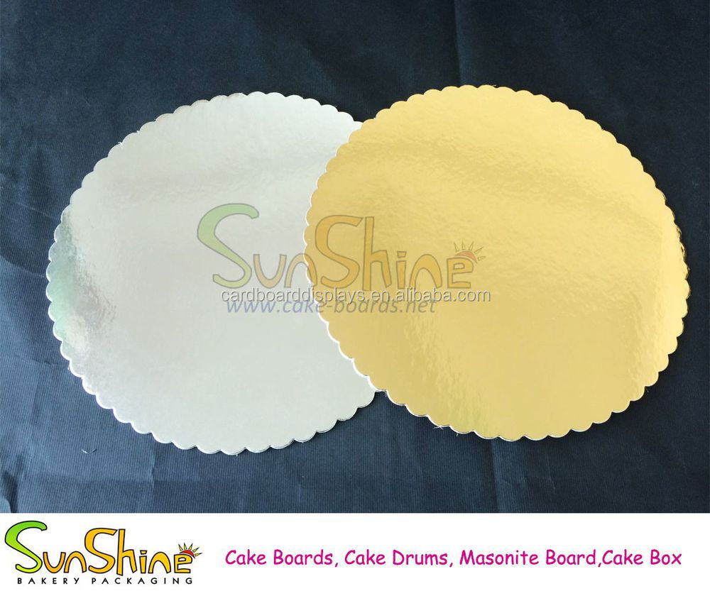 Round Gold Cake Boards Cake Base
