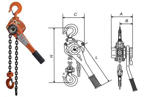 Chất lượng cao HSH 1 tấn chuỗi khối lever hoist lever block