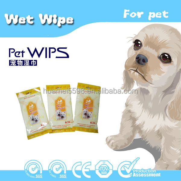 Competitive Price Widely Use Hot Sale Alcohol Free Biodegradable Aloe Pet Wipe