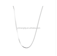 Fashion Silver 18-inch Diamond-cut Snake Chain 1mm Wide Necklace for Wholesale