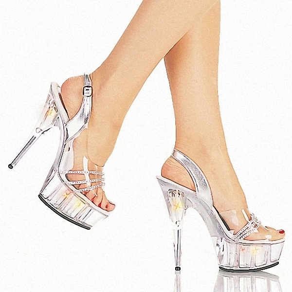 1e318e68c1d Get Quotations · With 15 cm on ultra high heels fine powder crystal shoes  clubs in Europe and America