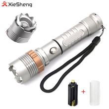 6061 Aluminum Alloy USB Rechargeable CREE T6 LED 5Modes Rotate Focus Flash light 2000LM Zoom Torch Police Security Flashlight