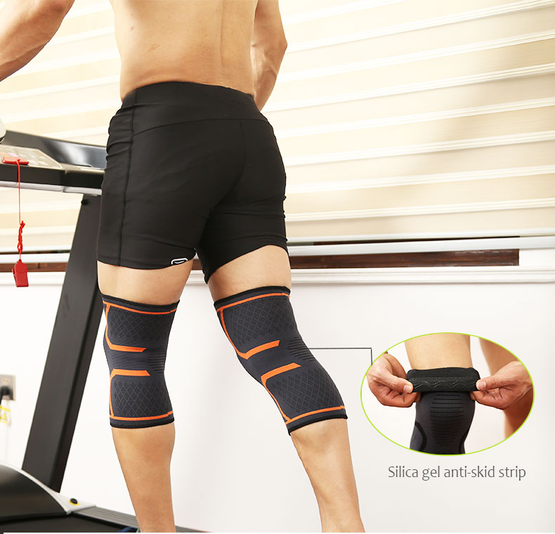 Breathable basketball Nylon compression knee sleeve