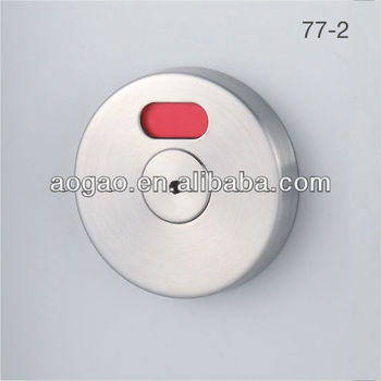 AOGAO 77-2 stainless steel round toilet cubicle door lock